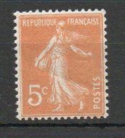 - Semeuse Camée 5c Orange - Yvert N° 158 - 1906-38 Semeuse Camée