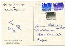 Wenskaart Met Postzegels 25-,10-,en 5cent  Zie Scan(s) - Periodo 1949 – 1980 (Juliana)