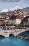 AL29 Geneve, Pont De La Coulouvreniere, Cathedrale St. Pierrre Et Le Montblanc - GE Ginevra