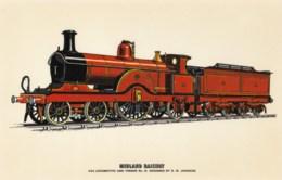 AL29 Trains - Midland Railway 4-2-2 Locomotive And Tender - Trains