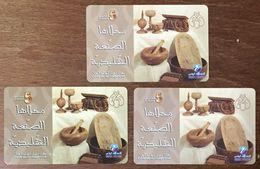 TUNISIE TELECOM 10 DINARS 3 CARTES DE RECHARGE GSM DIFFÉRENTES PRÉPAYÉE PHONECARD CARD PAS UNE TÉLÉCARTE - Tunisie
