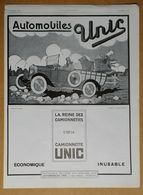 1925 Automobiles UNIC D'après F. Couderc (Puteaux - Création Des Affiches Ancrenaz) - Susse Frères Fondeurs - Publicité - Werbung