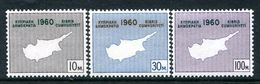 Cyprus 1960 Constitution Of The Republic Set MNH (SG 203-205) - Cyprus (Republic)