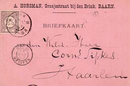 28 DEC 97   Grootrond BAARN  Op Bk Met NVPH33 En Met Firmalogo Naar Haarlem   (A. Horsman) - Storia Postale