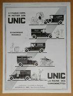1925 UNIC A Chaque Corps De Métier... D'après Roumy (Puteaux - Automobiles) - Monbrosia Parfum Lubin Paris - Publicité - Werbung
