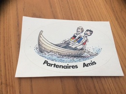 AUTOCOLLANT, Sticker «Partenaires Amis» (France Allemagne) - Adesivi