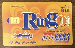 EGYPTE RINGO 10 LE TÉLÉCARTE PHONECARD CARD - Egypte