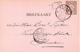 13 JUL 99   Grootrond BAARN  Op Bk Met NVPH33 En Met Firmalogo Naar Haarlem   (Joh. C.L.M. Siegmund) - Storia Postale
