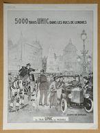 1926 5000 Taxis UNIC Dans Les Rues De Londres D'après Félix Jobbé Duval (Automobiles - Puteaux) - Publicité - Werbung