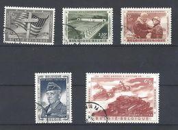 Nr 1032-36 Gestempeld - Belgium