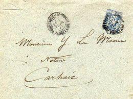 C7 1897  Lettre De Pont L'abbé Carhaix Quimper - 1877-1920: Periodo Semi Moderno