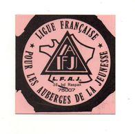 Autocollant Ligue Française Pour Les Auberges De La Jeunesse- Format : 7.5x7.5 Cm - Adesivi