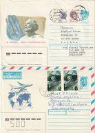 E 321) UdSSR Ganzsachen Weltraum, 2 Gelaufene Belege - Storia Postale