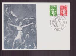 """France, Carte Maximum Du 1 Août 1980 à Paris """" Sabine """" - Cartas Máxima"""