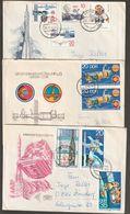 E 319) DDR: Diverse Gelaufene Belege Weltraum-Bezug Mi# 2310-12, 2355, 2359-62 - Storia Postale