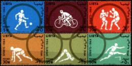 Libya, 1964, Olympic Summer Games Tokyo, Sports, MNH Block, Michel 160-165A - Libye