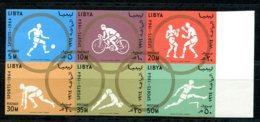 Libya, 1964, Olympic Summer Games Tokyo, Sports, MNH Imperforated Block, Michel 160-165B - Libye