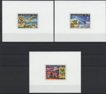 Libya, 1977, UPU Centenary, Space Shuttle, Concorde, United Nations, MNH Imperforated Sheets, Michel 584-586B - Libye