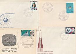 E 318) POLEN: Diverse Belege Mit Weltraum-Bezug - Storia Postale