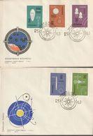 E 317) POLEN 1963 Mi# 1437-1446 FDC (4): Eroberung Des Weltraums - Storia Postale