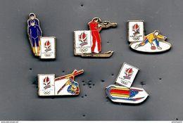 Lot De 5 Pin's JO Albertville 92 - Giochi Olimpici