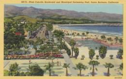 AM70 West Cabrillo Boulevard And Municipal Swimming Pool, Santa Barbara, Cal - Linen - Santa Barbara