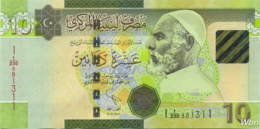 Libya 10 Dinars (P78Ab) 2011 -UNC- - Libyen