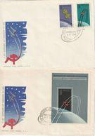 E 316) POLEN 1962 Mi# 1350-1352 Block 28 FDC: Gruppenflug Wostok 3 Und 4 - Storia Postale