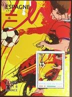 Niger 2016 Euro Football Spain Minisheet MNH - Niger (1960-...)