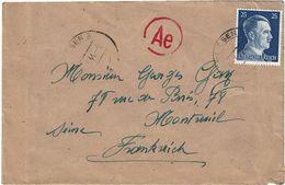 CTN63/ETR - ALLEMAGNE LETTRE  D'AVRIL(?) 1944 - Germany