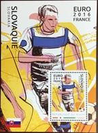 Niger 2016 Euro Football Slovakia Minisheet MNH - Niger (1960-...)