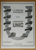 1926 UNIC La Reine Des Camionnettes (Puteaux - Automobiles) - Breguet Horloger - Coupe-vent Kap - Bourjois - Publicité - Werbung