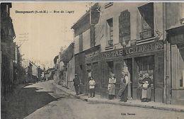 77, Seine Et Marne, DAMPMART, Rue De Lagny, Scan Recto Verso - Frankreich