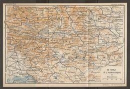 CARTE PLAN 1937 AUTRICHE DE GRAZ à L'ADRIATIQUE - KARTE 1937 ÖSTERREICH VON GRAZ BIS ADRIATISCH  - MAP 1937 AUSTRIA - Topographische Karten