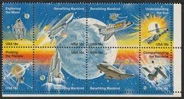 E 314) USA 1981 Mi 1481-1488 ** + 11 FDC: Erfolge Der Raumfahrt - Storia Postale