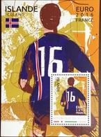 Niger 2016 Euro Football Iceland Minisheet MNH - Niger (1960-...)