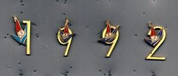 Lot De 4 Pin's JO Albertville 92 - Giochi Olimpici
