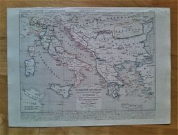 L'Empire Ottoman Après La Prise De Constantinople, L'Italie à L'Époque De L'asservissement Des Villes Lombardes - Geographische Kaarten