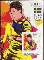 Niger 2016 Euro Football Sweden Minisheet MNH - Niger (1960-...)