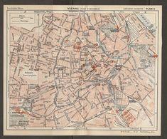 CARTE PLAN 1937 AUTRICHE VIENNE - KARTE 1937 ÖSTERREICH WIEN - MAP 1937 AUSTRIA VIENNA - Topographische Karten