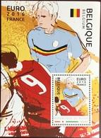 Niger 2016 Euro Football Belgium Minisheet MNH - Niger (1960-...)