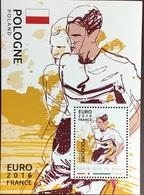 Niger 2016 Euro Football Poland Minisheet MNH - Niger (1960-...)