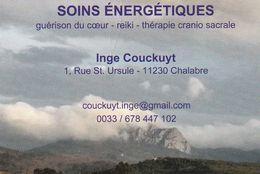 Soins Energétiques - Inge Couckuyt - 11320 Chalabre - France - Visiting Cards