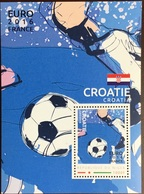 Niger 2016 Euro Football Northern Croatia Minisheet MNH - Niger (1960-...)