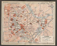 CARTE PLAN 1937 AUTRICHE VIENNE CENTRE - KARTE 1937 ÖSTERREICH WIEN - MAP 1937 AUSTRIA VIENNA - Topographische Karten