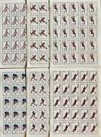 Full Sheets Of Stamps Complete Set O.G Barcelona 92/ Timbres J.0 Barcelone 92 Feuilles Completes - Summer 1992: Barcelona