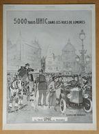 1926 5000 Taxis UNIC Dans Les Rues De Londres D'après Félix Jobbé Duval (Puteaux - Automobiles) - Pyrène - Publicité - Werbung