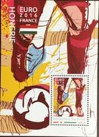 Niger 2016 Euro Football Hungary Minisheet MNH - Niger (1960-...)