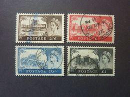 GRANDE BRETAGNE, Année 1959, YT N° 351 à 354 (filigrane O) Oblitérés (cote 32.50 EUR) - 1952-.... (Elizabeth II)