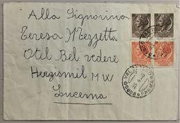 1954 Mischfrankaturbeleg Italien - 1946-.. République